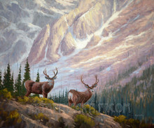 Fred Choate 'A Couple of Bucks' Giclee on Canvas