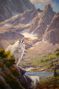 Fred Choate 'Sawtooth Sentinel' Guardian of the High Country - Giclee on Canvas