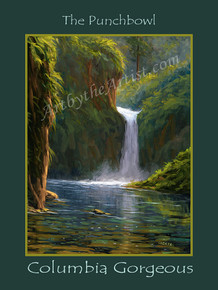 "Fred Choate 12""x16"" 'Punchbowl Falls' Paper or Canvas Gicleé Signed & Numbered"