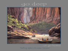 """Fred Choate 12""""x16"""" 'Go Deep or Go Home' Paper or Canvas Gicleé Signed & Numbered"""