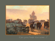 "Fred Choate 12""x16"" 'Can You Hear Me Now' Paper or Canvas Gicleé Signed & Numbered"