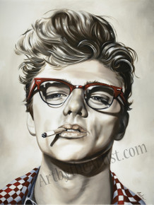 Martine Castoro '20-20' Giclee on Canvas (James Dean)