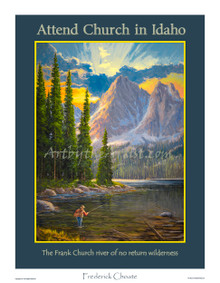 Fred Choate 'Attend Church in Idaho' Paper or Canvas Gicleé Signed & Numbered