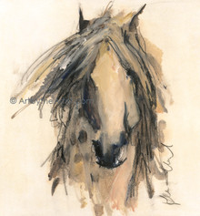 Karen Niederhut 'Gray' Horse Litho or Canvas Signed