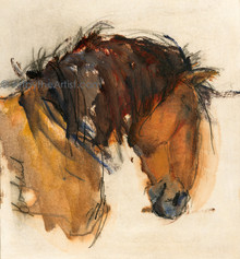 Karen Niederhut 'Bay Pony Boy' Horse Litho or Canvas Signed