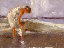 Karen Niederhut 'Beach Day' Litho or Canvas Signed