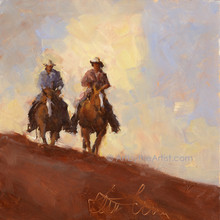 Karen Niederhut 'Riders' Litho or Canvas Signed