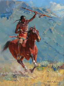 Vladimir Ribatchok 'Crow Brave' American Indian Art Print