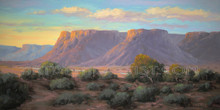 Fred Choate 'Evening in Bruneau' Giclee on Canvas Limited Edition