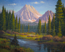 Fred Choate 'Castle Peak - White Cloud Mountains' Giclee on Canvas Signed