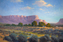 Fred Choate 'Owyhee Homestead' Giclee on Canvas Signed