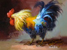 "Mary Gruber ""Rooster 2"" Signed Giclee on Canvas"