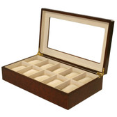 10 Watch Box Burl Wood Matte Finish XXL