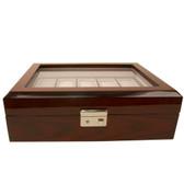 Mahogany Watch Box with Removable Tray