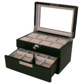 Watch Box with Metal Tabs
