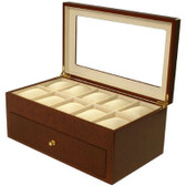 20 Watch Box Burl Wood Matte Finish XXL Extra Large
