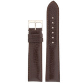 Watch Band Calfskin Leather Dark Brown Comfort padded