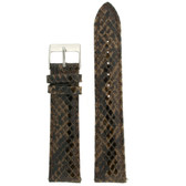 Watch Band Brown Snake Print - Top View