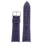 Watch Band Purple Genuine Leather Alligator Grain