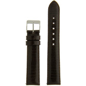 Watch Band Genuine Lizard Leather Strap Dark Brown