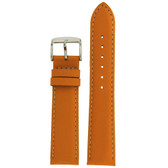 Orange Leather Watch Band by Tech Swiss - Top View