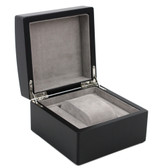 Single Watch Box 1 Extra Large Watch Wood Black Finish Removable Cushion