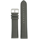 Watch Band Carbon Fiber Grey Water Resistant Padded
