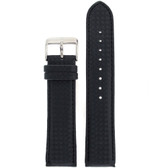 Watch Band Carbon Fiber Black Water Resistant Padded