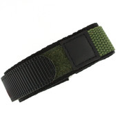 22mm Green Velcro Watch Band | 22mm Velcro Green Watch Strap | 22mm Green Sport Watch Band | Watch Material VEL100BLK-22mm | Band