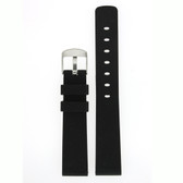 Silicone Rubber Watch Band Black