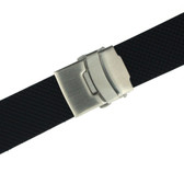 Watch Band Waterproof Strap Adjustable Rubber Stainless Deployment Buckle