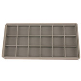 Storage Box 18 Compartment Organizer Tray Compact Small Items See Thru Lid - Main