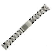 Watch Band Oyster Style Link Stainless Steel Metal Men's 18mm