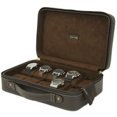 10 Watch Case Compact Travel BriefCase Tech Swiss TS5974BRN