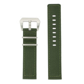 Nylon Watch Band in Army Green - Top View