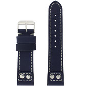 Watch Band Navy Blue Pilot Style White Stitching