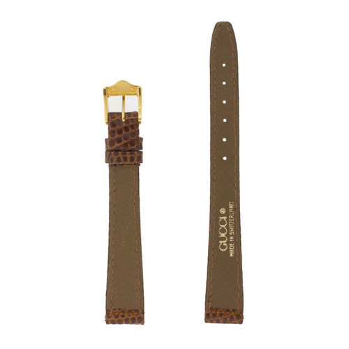 Gucci Watch Strap 13mm Tan models 2200L 3000L Genuine Lizard - Main
