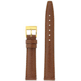 Gucci Watch Band 14mm Tan Genuine Lizard 6300L
