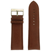 Extra Wide Leather Watch band - front view