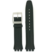 Black Watch Band in size 19 mm by Tech Swiss - Top View