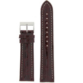 Genuine Crocodile Burgundy Thick Padded White Stitched