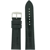 Watch Band in Black with Crocodile Grain by Tech Swiss - Top View