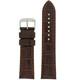 Brown Crocodile Grain Watch Band by Tech Swiss - Top View