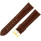 Dark Brown Leather Watch Band with Crocodile Grain - Full View