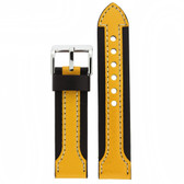 Black and Yellow Sports Watch Band - Top View