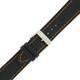 Carbon Fiber style leather watch band