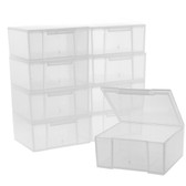 Paylak 10 Storage Square Clear Container For Crafts Beads Small Items Organizer 2.5 inches Square