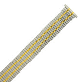Watch Band Expansion Metal Stretch Two Tone Silver-Gold Thin Line - TSMET244