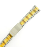 Watch Band Jubilee Style Link Metal 2-tone Straight Ends