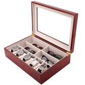 Compact Wood Watch & Jewelry Case for Men   Clear Display Window   Tech Swiss   TSVL405BUR   Main